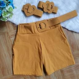Short Plus Size<br>C/ Cinto