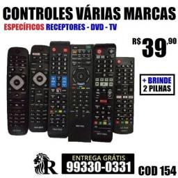 Controle remoto TVs e Receptores (entrega grátis)