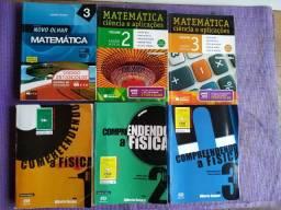 Kit 6 Livros de Ciências Exatas - Matemática e Física para o Enem