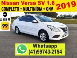 Nissan Versa SV 1.6 GNV 2019 - 2º Dono - Aceito Troca - Financio
