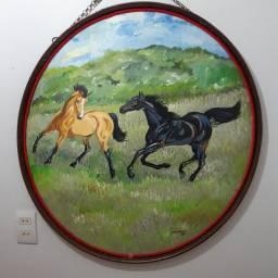 Quadro cavalos 82cm