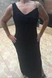 Vestido longo preto Calvin Klein