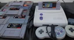 Vídeo Game Super Nintendo C/ 13 Cartuchos