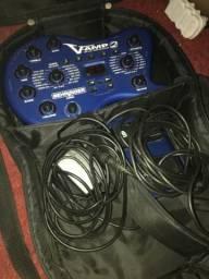 Pedal V-amp 2 e controlador FCB 1010