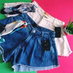 Short Jeans Gode com lenço