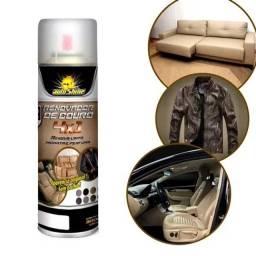 Renovador de couro Spray 4 em 1 - Renova, Limpa, Hidrata e Perfuma