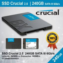 Hd Ssd - 240gb - Crucial - Novo - Pronta Entrega