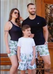 Shorts Família, única estampa em família