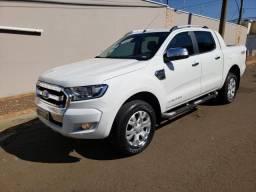 Ford Ranger Limited dupla 17/17 branca diesel 4x4 baixo km automatica