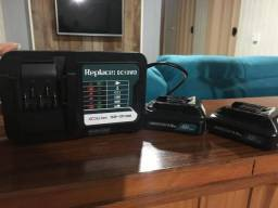 carregador e duas baterias Makita 12 volts