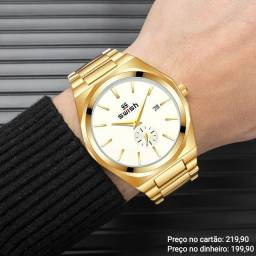 Relógio masculino importado original Swish luxo diferenciado