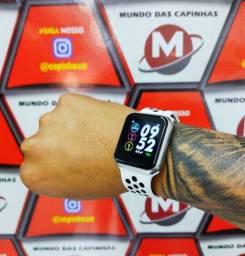 Relógio smartwatch F8 pro fitness com pulseira esportiva branca