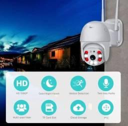 Câmera Ip Icsee Prova D'água Infravermelho Wifi Hd 2 Antena