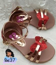 Sandália infantil menina feminina luxo