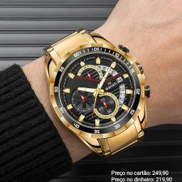 Relógio masculino importado original Swish cronógrafo premium