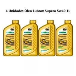 Kit 4 litros de Óleo Sintético 5w40 Lubrax SN