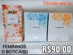 Perfumes originais Natura e Boticário