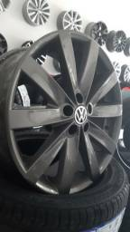Jogo Rodas Us R17 Aro 17 VW Jetta 2012 2.0 Grafite 5x100 Golf Fox Polo Virtus TCross