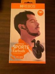 Título do anúncio: Fone de ouvido sem fio HRebos HS-600 - Novo