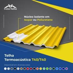 Título do anúncio: Telhas Termoacusticas Trapezoidal em Aço Galvalume