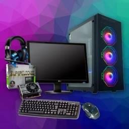 PC Gamer Completo monitor 19 Intel G4560 GTX1050ti 12GB Ram HD 1TB