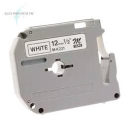 Fita para Rotulador Brother M231Cor Branca