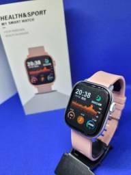 Título do anúncio: Relógio Smart Lemfo M1- NOVO (Com monitor de saúde, redes sociais e esportes)