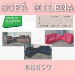 Título do anúncio: sofa preto a