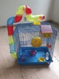 gaiola pra Hamster completa e nunca usada.