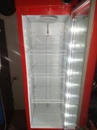 Freezer expositor cervejeiro gelopar Budweiser slim 220V super novo