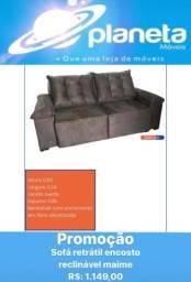 Título do anúncio: SOFÁ RETRÁTIL ENCOSTO RECLINÁVEL MAIME / AQUÁRIO AQUÁRIO