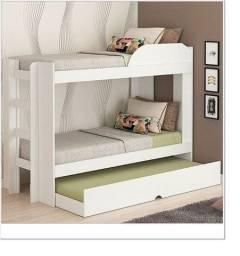 Beliche com cama auxiliar em material MDF - Produto NOVO com Entrega grátis para o ES