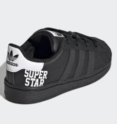 Tênis superstar adidas preto original