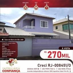 1m= linda casa com 2 quartos 2 suíte em Barra de São João