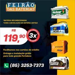Título do anúncio: Bateria Heliar e Moura - Zetta, Strada - Baterias de 60ah com Garantia