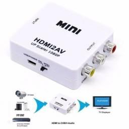 Mini Conversor Hd Vídeo Hdmi X Av Rca - Hdmi2av