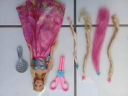 Boneca Barbie Rapunzel penteado mágico