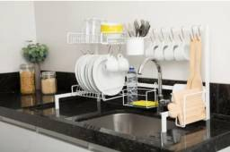 Cozinha Suspensa Modular De Bancada Escorredor 20 Peças Aço