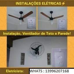 instalador de ventiladores de teto e eletricista