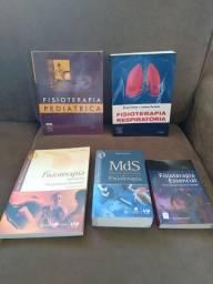 Kit com 5 livros de Fisioterapia