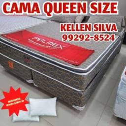 Título do anúncio: cama cama @ cama queen +2 travesseiros de brinde @