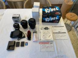 Câmera Canon Rebel SL1 Kit + Lentes