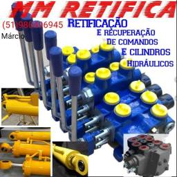 Recuperação de comandos hidráulicos e cilindros