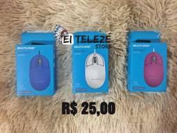 Mouse de fio USB Multilaser.