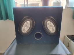 Título do anúncio: Caixa Som automotivo selada alto falante 6x9 em MDF com duto