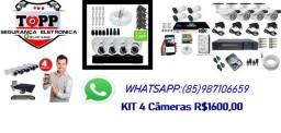 KIT 4 Câmeras instalado a partir de R$1600,00