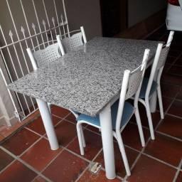 Mesa Granito 4 cadeiras