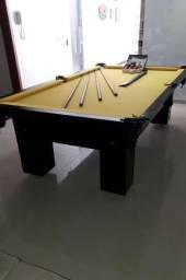 Mesa de Redes Cor Preta MDF Tecido Amarelo Tx Mod. FSSS5918
