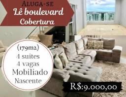 Aluga-se cobertura Lê boulevard 4 suites mobiliado nascente