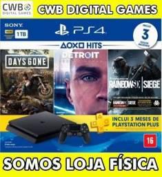 Playstation 4 1tb,kit 3 jogos,novo lacrado e garantia de 1 ano,somos loja física-PS4